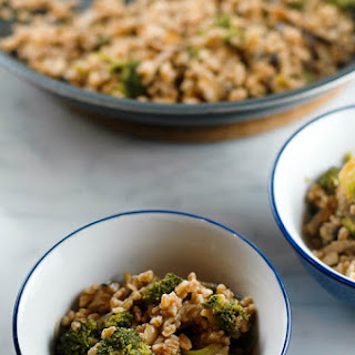 Farro with Broccoli and Shiitakes