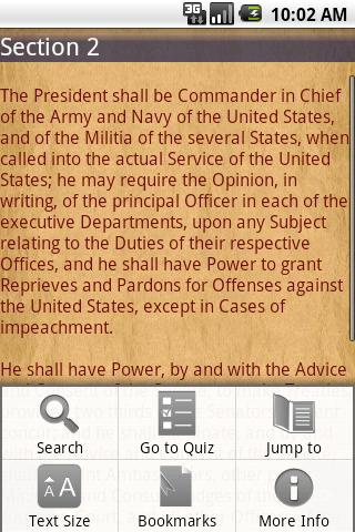 US Constitution - screenshot