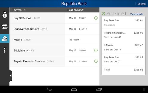 Republic Bank Mobile FL/OH - screenshot thumbnail