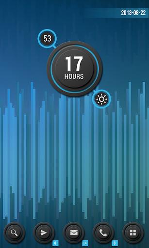 【免費個人化App】Zooper Black Series Clock-APP點子