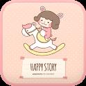 Happy story go locker theme icon
