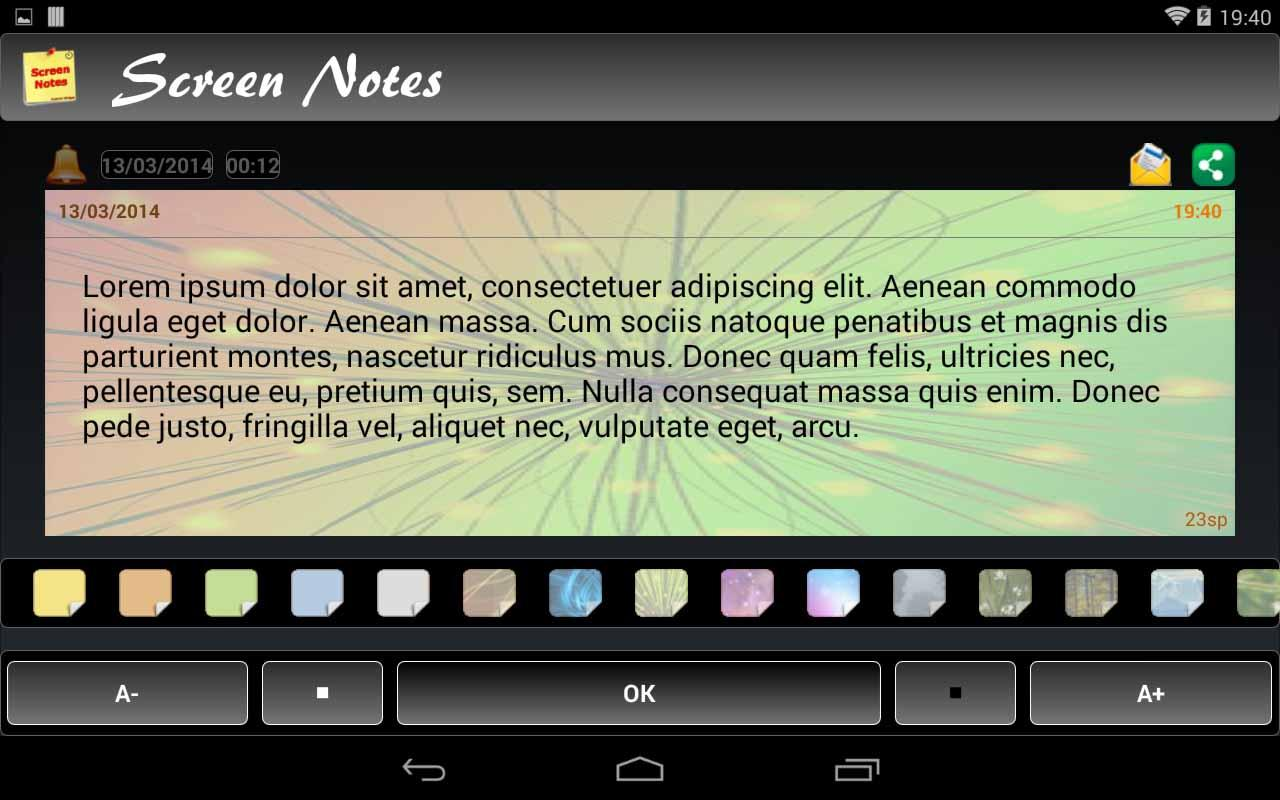 Screen Notes - screenshot