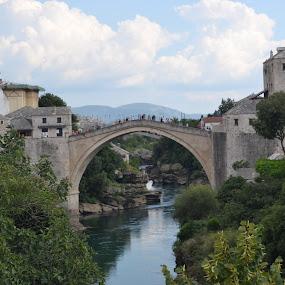 Stari Most by Cal Johnson - Buildings & Architecture Bridges & Suspended Structures ( adventure, europe, bosnia, bridge, mostar )