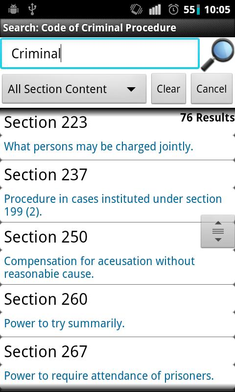 CrPC-Code of Criminal Procedur - screenshot