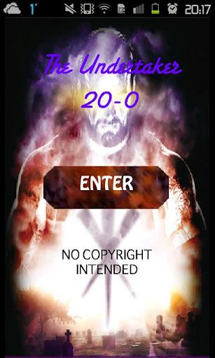 The Undertaker 20-0