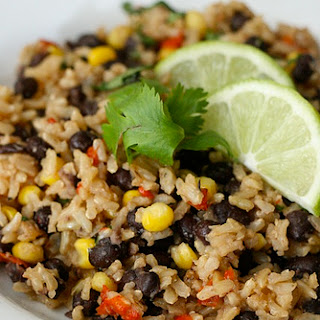 Brown Rice with Black Beans.