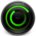 MIUI Spiral GREEN Analog Clock logo