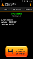 Screenshot of GPS Arrow Navigator PRO