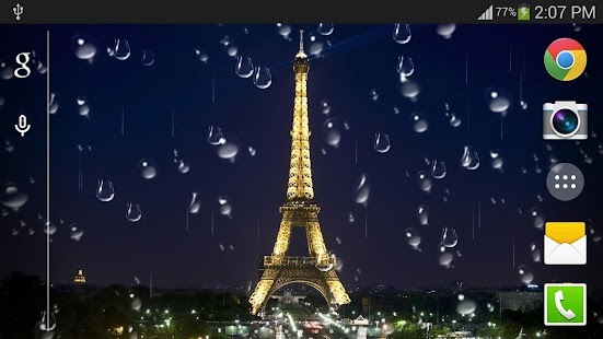 Rainy Paris Live Wallpaper Pro Android Apps On Google Play