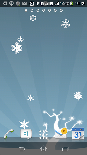 Live Snowflakes Wallpaper