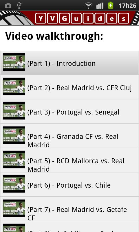 YVGuide: PES 2013 Legend w/CR7 - screenshot