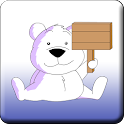 Polar bear battery icon