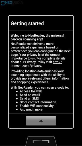 NeoReader QR & Barcode Scanner screenshot