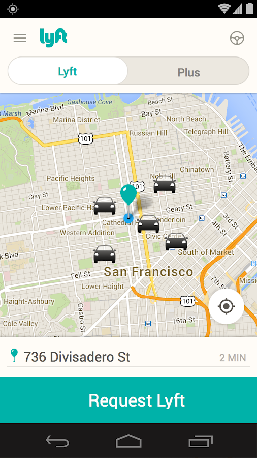 Lyft - Taxi & Bus Alternative - screenshot