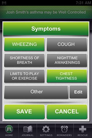 AsthmaSense Cloud - screenshot