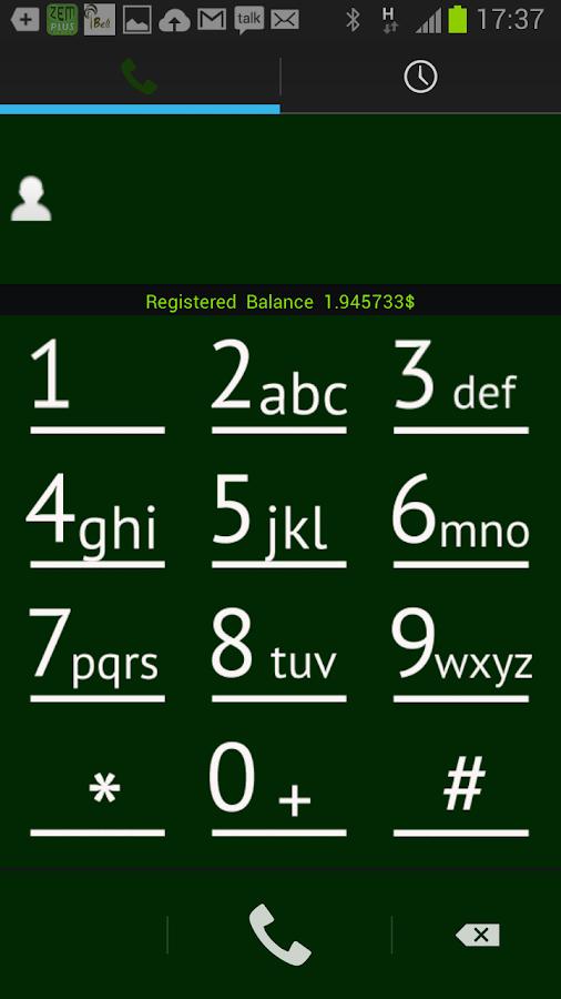 Zemplus Dialer- screenshot