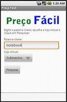 Screenshot of Preço Fácil