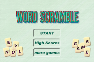 Screenshot of Word Scramble