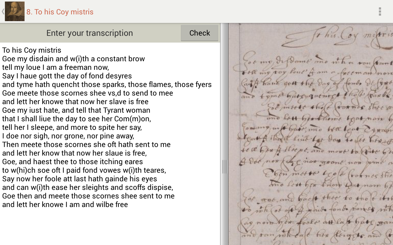 Tudor and Stuart Handwriting- screenshot