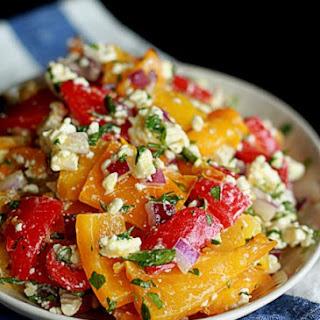 Roasted Pepper & Feta Salad.