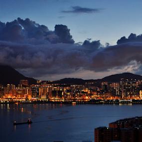Hongkong 2 by Lindra Hismanto - City,  Street & Park  Night ( hongkong, lindra, hismanto, night, Urban, City, Lifestyle )