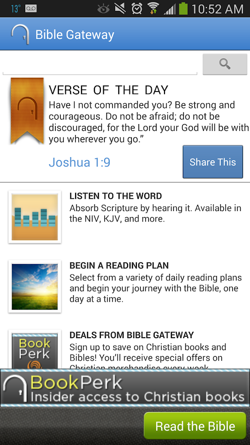 Bible Gateway - screenshot