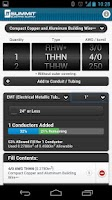 Screenshot of Conduit Fill Tracker