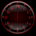 Sleek Ebony Red Clock Widget icon