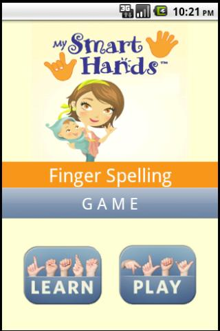 ASL spelling game- screenshot