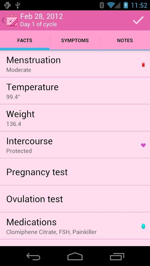 Menstrual Calendar Premium- screenshot