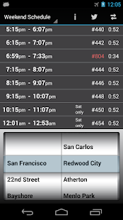 Caltrain Droid - screenshot thumbnail