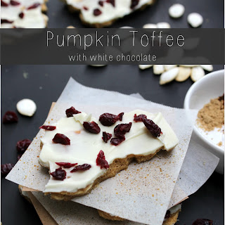 Pumpkin Toffee with White Chocolate | bring fall back a little early with this treat