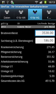 SimTax Pro Gehaltsrechner 2015 - screenshot thumbnail