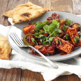 Vegan Tofu Chilli Paneer