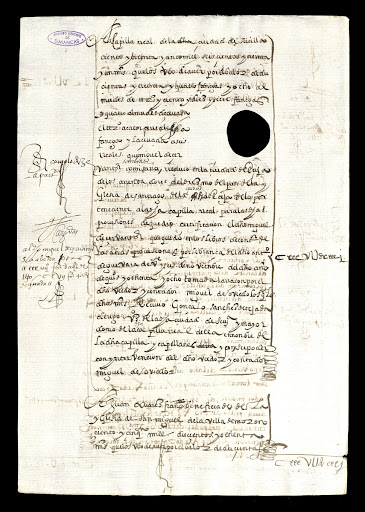 Account of wheat and barley collected by Cervantes.