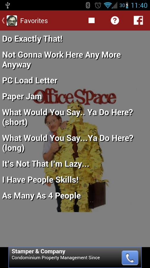 Office Space Soundboard - screenshot