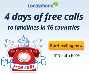 free calls, jubilee, international calls