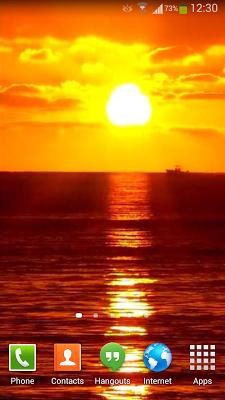 Sunset Ocean Live Wallpaper 3 - screenshot