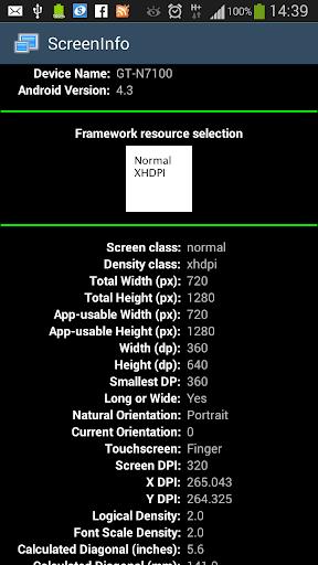 Screen Info detail