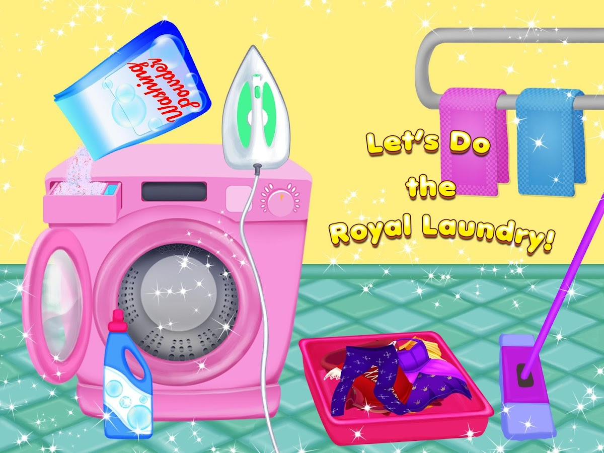 Clean up bathroom games - Princess Castle Cleanup Screenshot