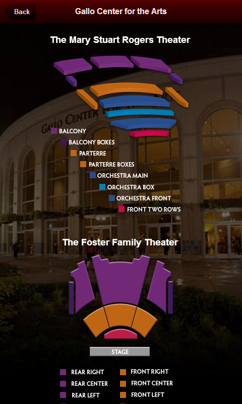 Gallo Center Tickets- screenshot