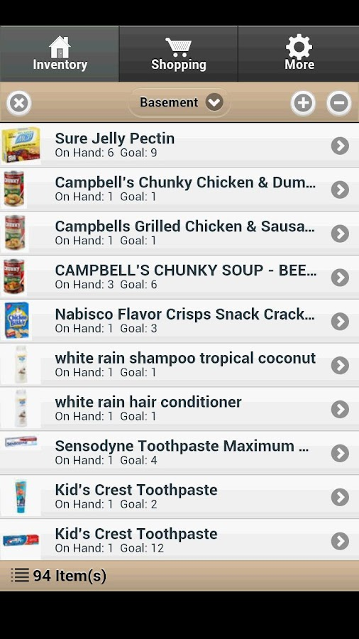 Food Storage Management - screenshot