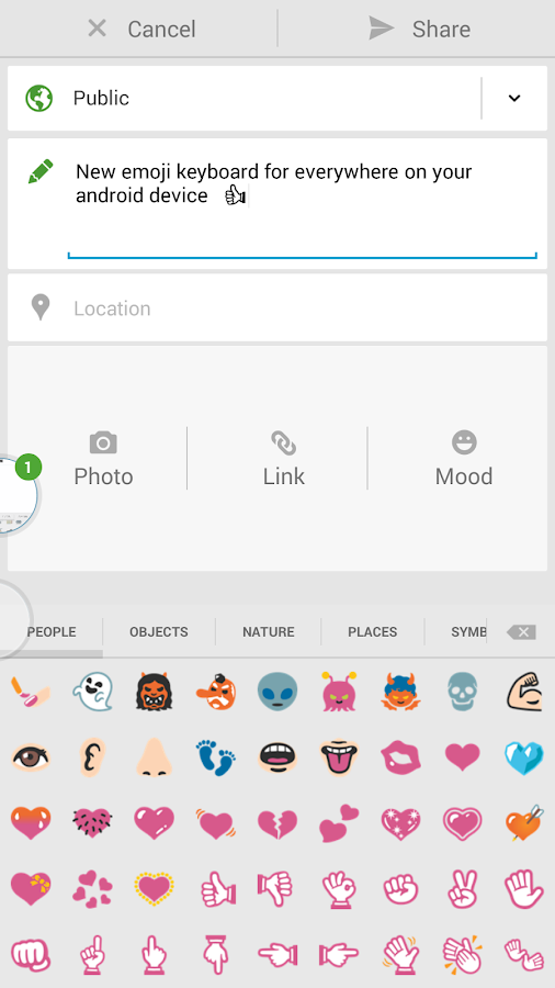 Sliding Emoji Keyboard Unlock- screenshot