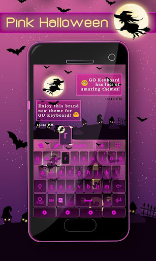 Pink Halloween Keyboard Theme