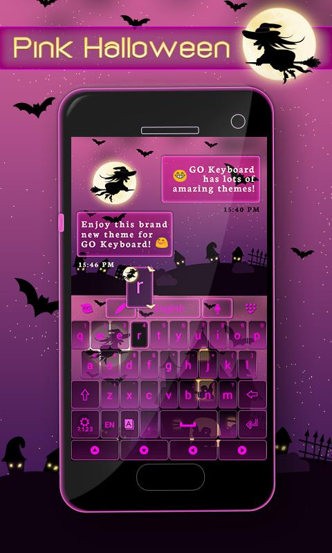 Pink-Halloween-Keyboard-Theme 6