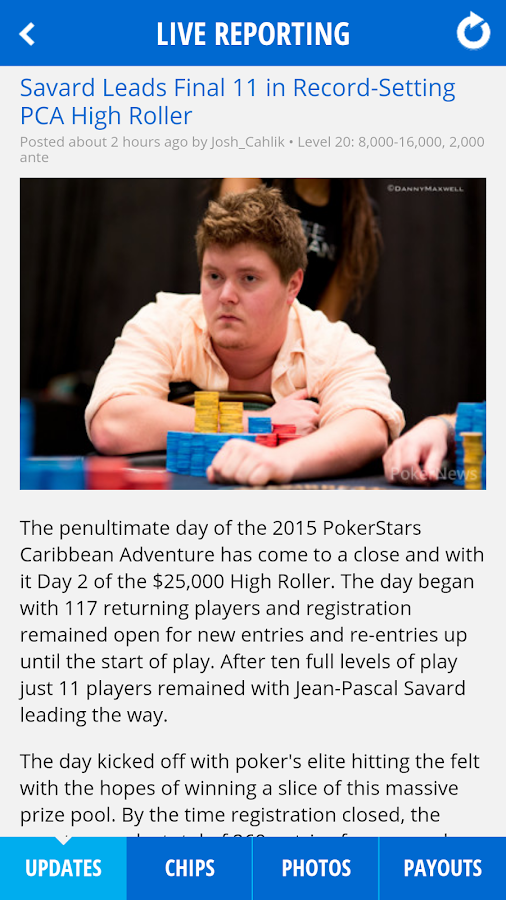 PokerNews - screenshot