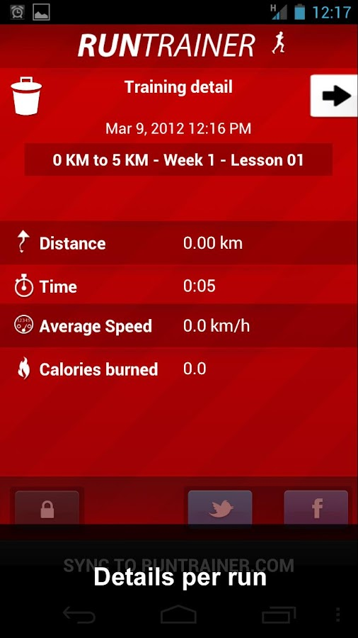 Run Trainer - screenshot