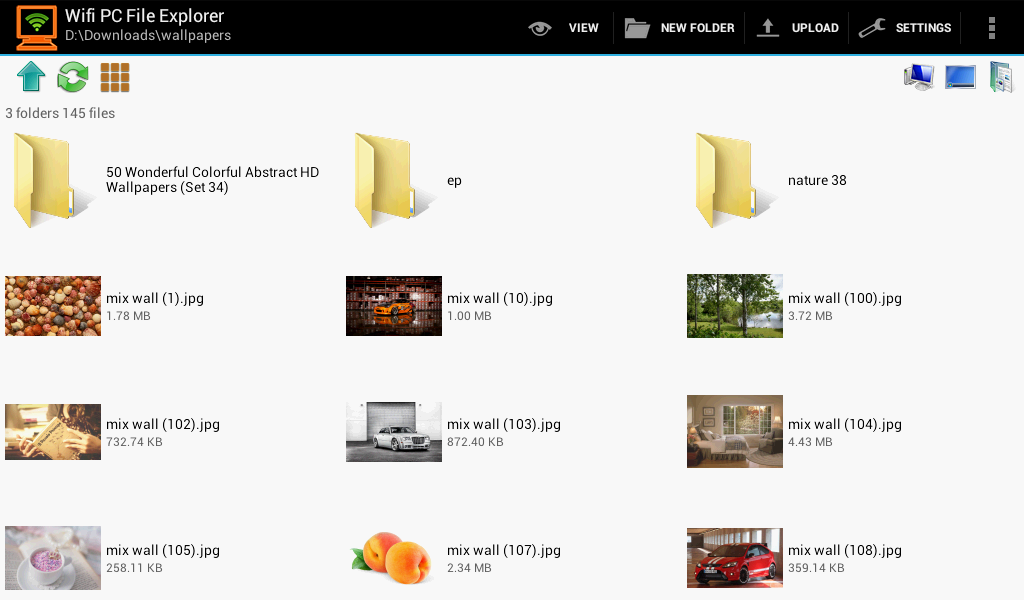 WiFi PC File Explorer Pro- screenshot