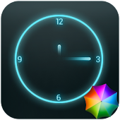 Glowing Neon Clock Widget