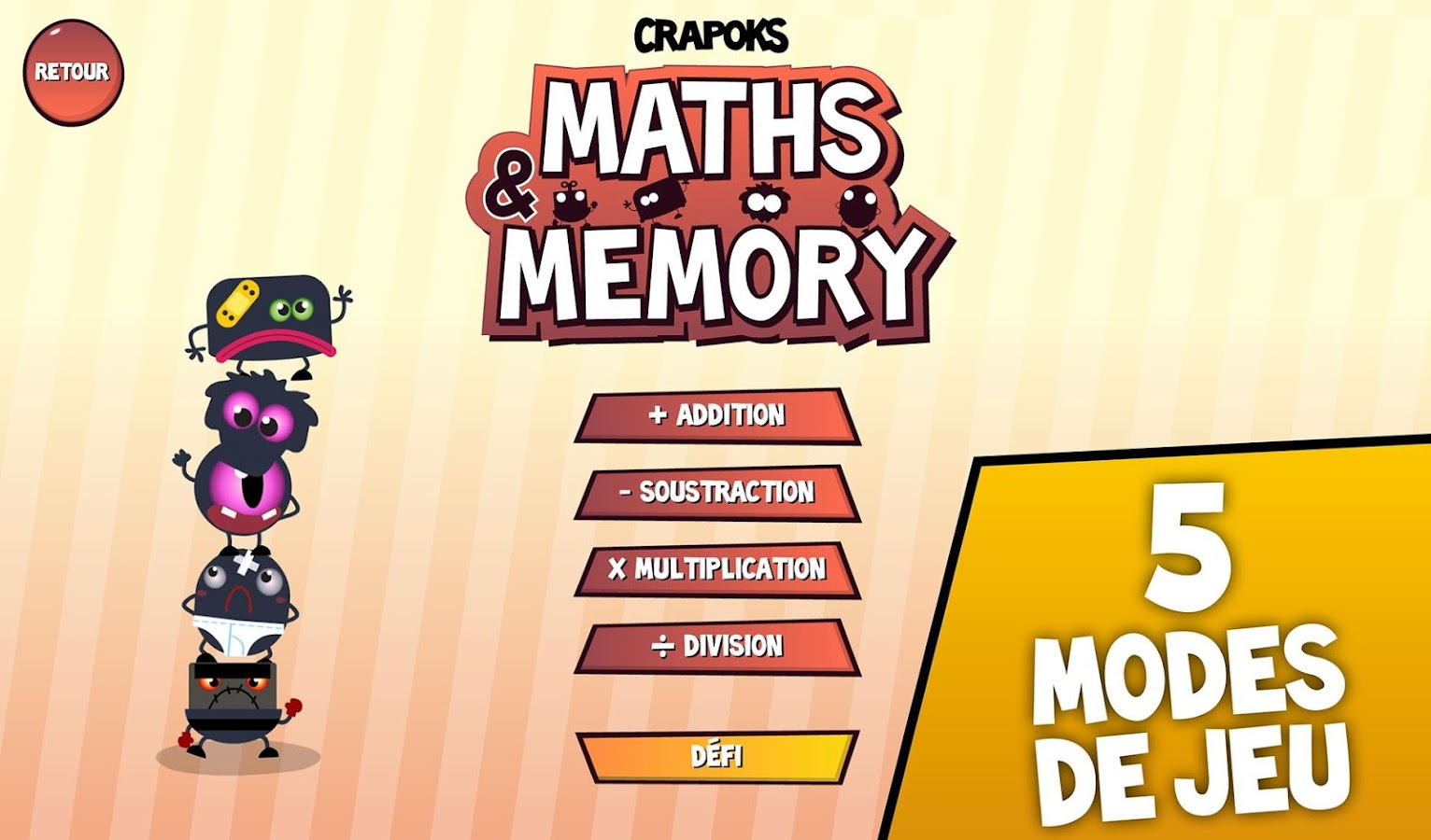 Crapoks : Maths & Memo - screenshot